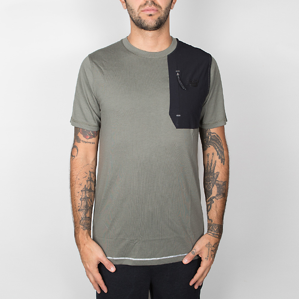 New Balance 247 Luxe Tee - Military Foliage Green M