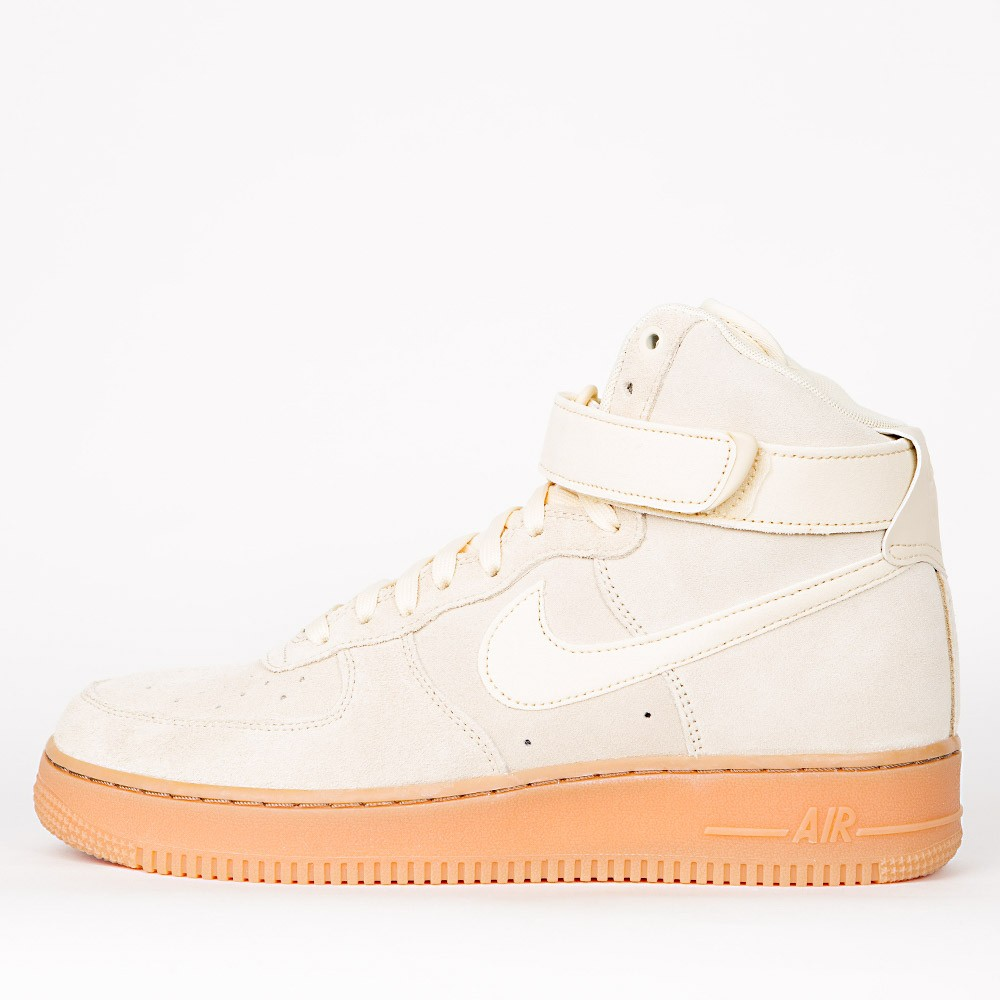 outlet boutique sneakers for cheap huge sale Nike Air Force 1 High '07 LV8 Suede - Muslin / Muslin - Gum ...