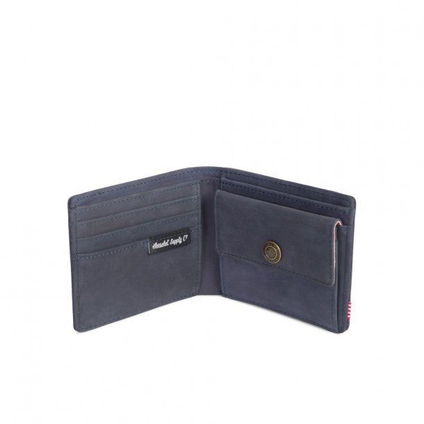 Herschel Supply Co. Hank + Coin RFID Wallet Peacoat Leather / Beaded Collection-01