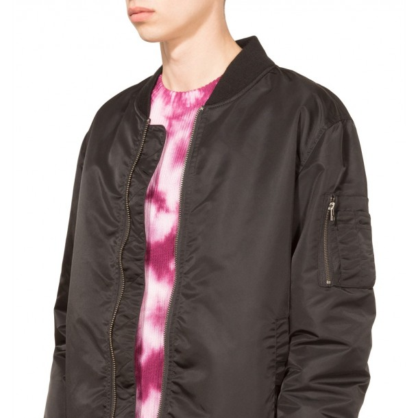 Stussy Flight Satin Bomber Jacket Black-01