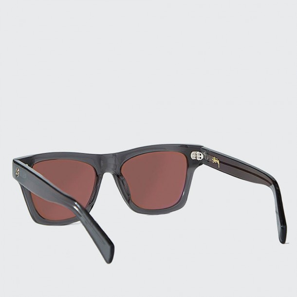 Stussy Norton Sunglasses Dark Grey / Brown-01