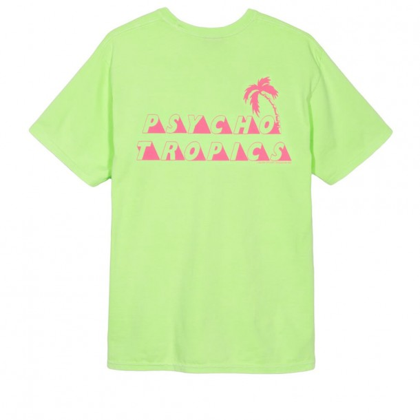 Stussy Psycho Tropics P. Dyed Pkt Tee Natural-01