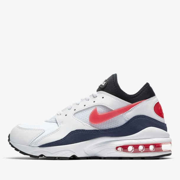 Nike Air Max 93 White / Habanero Red Neutral Indigo Black-01