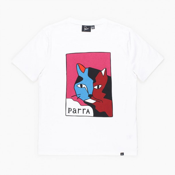 By Parra Earl The Cat T-Shirt White-01