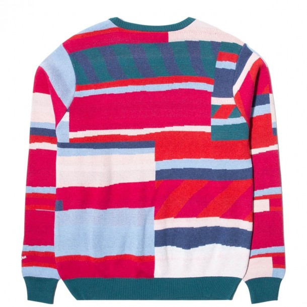 By Parra Premium Stripes Knitted Pullover Stonewashed Pink-01