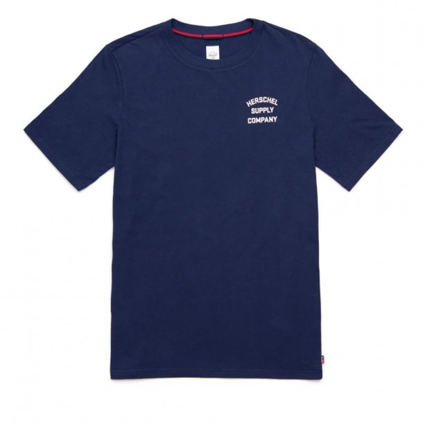 Herschel Supply Co. Stack Logo T-Shirt Peacoat / Ash Rose-01