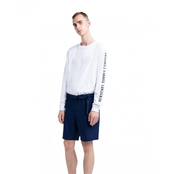 Herschel Supply Co. Long Sleeve T-Shirt Bright White / Black-01