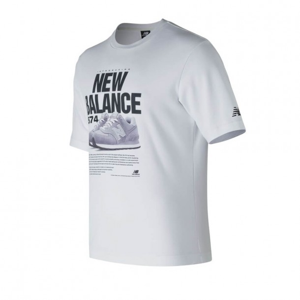 New Balance MT81567WT Tee White-01