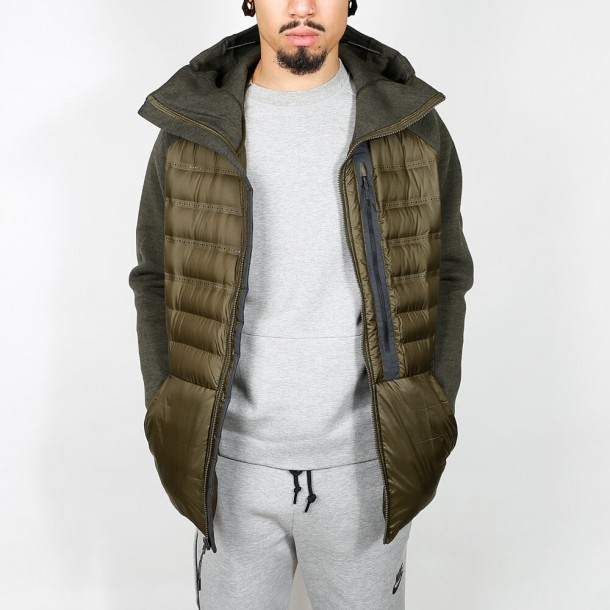 Nike Tech Fleece Aeroloft Jacket Dark Loden / Cargo Khaki-01