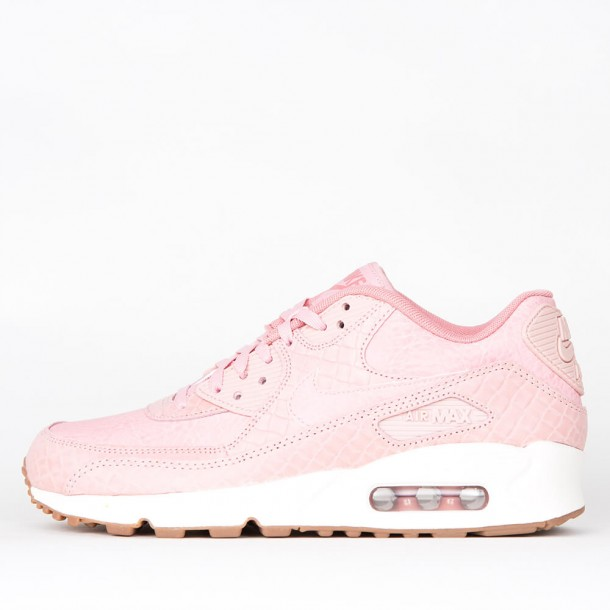 online retailer 65f57 dfa68 germany image is loading customised pink glaze crystal sparkle nike air max  d08de 4a996  usa nike wmns air max 90 premium pink glaze pink glaze pink  glaze ...