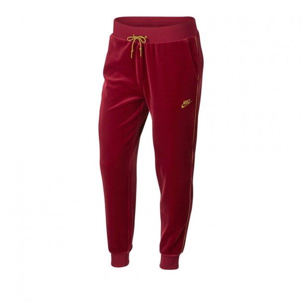 Nike Sportswear Wmns Pant Velour Red crush / Wheat Gold-01