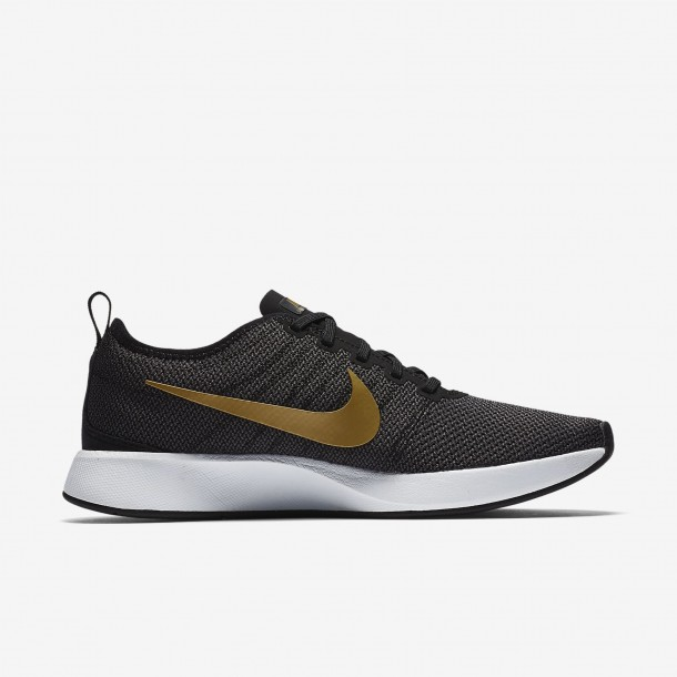 Nike Wmns Dualtone Racer SE Black / Metallic Gold Dark Grey White-01