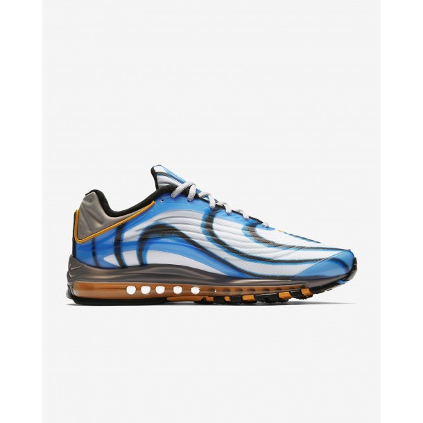 Nike Air Max Deluxe Photo Blue / Wolf Grey Orange Peel Black-01