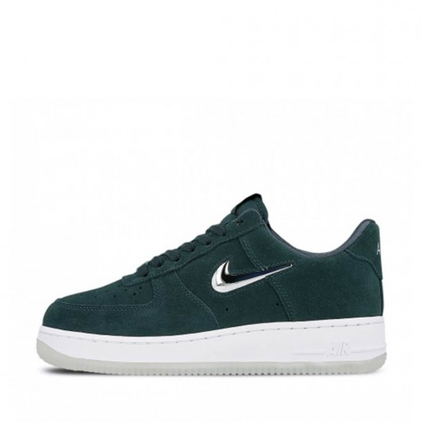 Nike Wmns Air Force 1 07 Prm LX Faded Spruce / Metallic Silver White-31