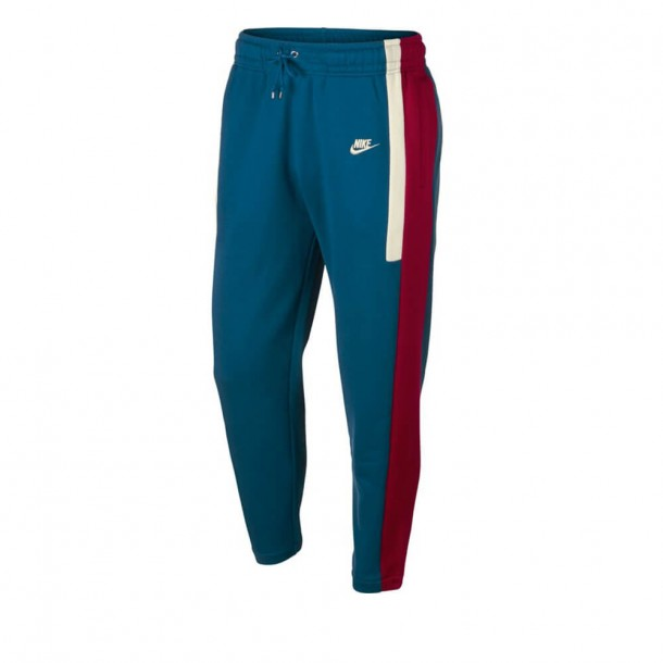 Nike Sportswear Re-Issue Pant Fleece Green Abyss / Team Red / Sail-31