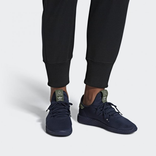 Adidas Pharrell Williams Tennis Hu Collegiate Navy / Collegiate Navy / Off White-01
