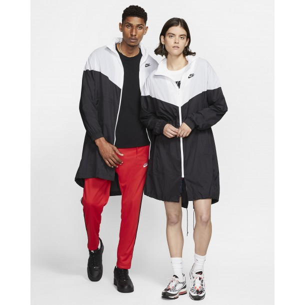 Nike Sportswear Wmns Windrunner Trench Jacket Black / White / Black-01