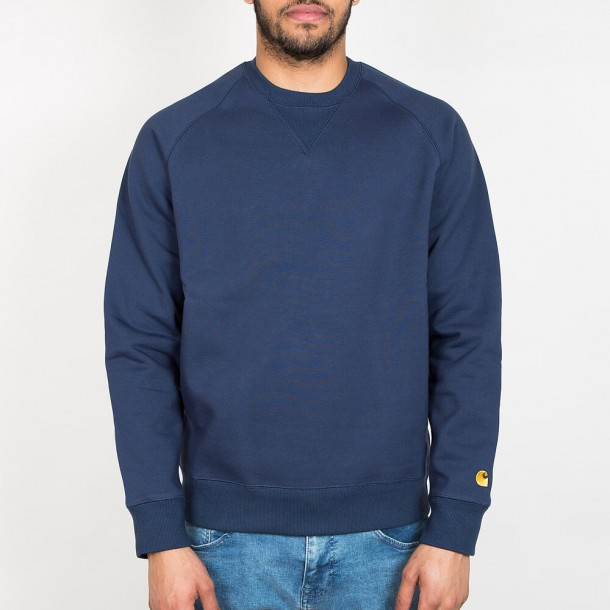 Carhartt WIP Chase Sweat Blue / Gold-01