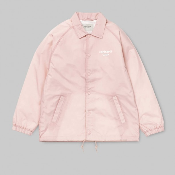 Carhartt WIP W Coach Jacket Soft Rose / White-01