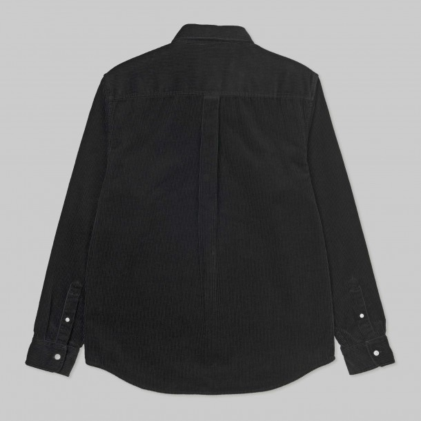 Carhartt WIP L/S Madison Cord Shirt Black / White-01