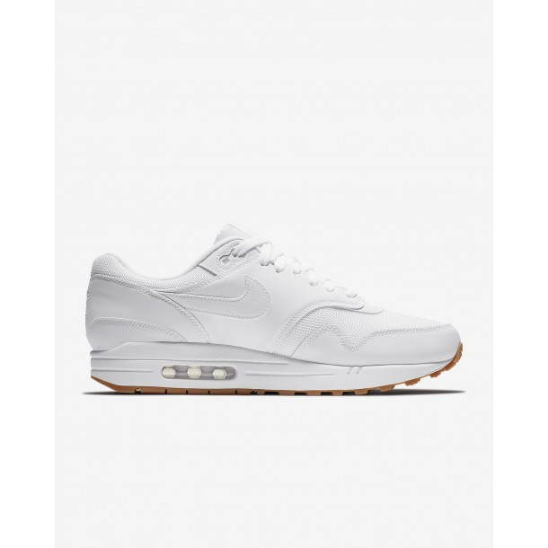 Nike Air Max 1 White / White White Gum Med Brown-01