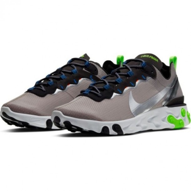 Nike React Element 55 SE Pumice / Metallic Silver Total Orange-01
