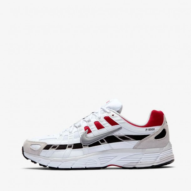 Nike P-6000 White / Particle Grey University Red-01