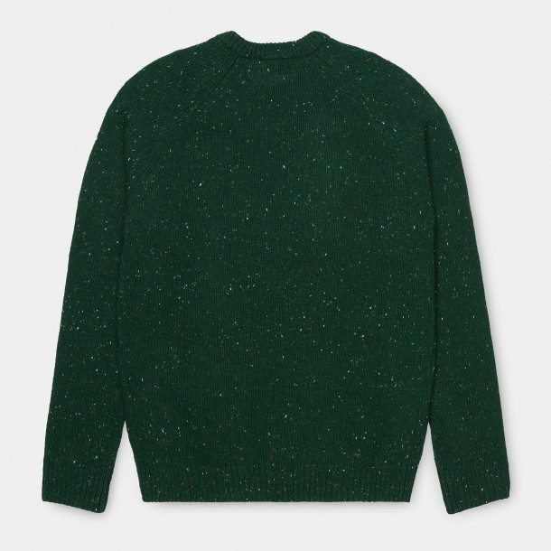 Carhartt WIP Anglistic Sweater Bottle Green Heather-01