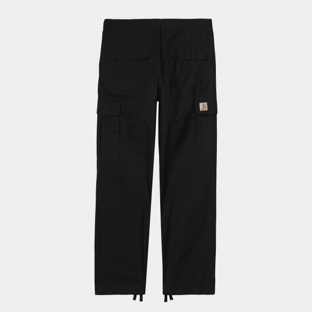 Carhartt WIP Regular Cargo Pant Black (rinsed)-01