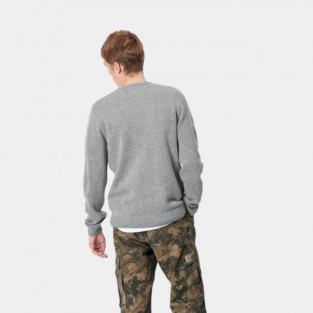Carhartt WIP Allen Sweater Grey Heather-01