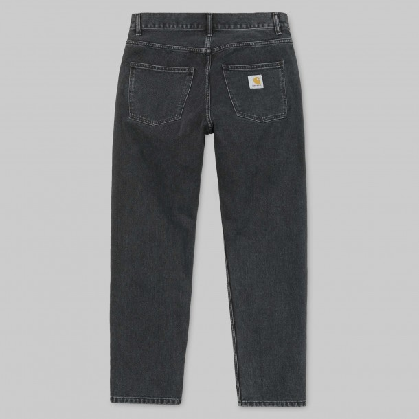 Carhartt WIP Newel Pant Black (stone washed)-01