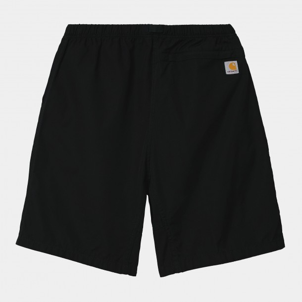 Carhartt WIP Clover Short Black (stone washed)-01