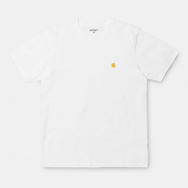 Carhartt WIP S/S Chase T-Shirt White / Gold-01