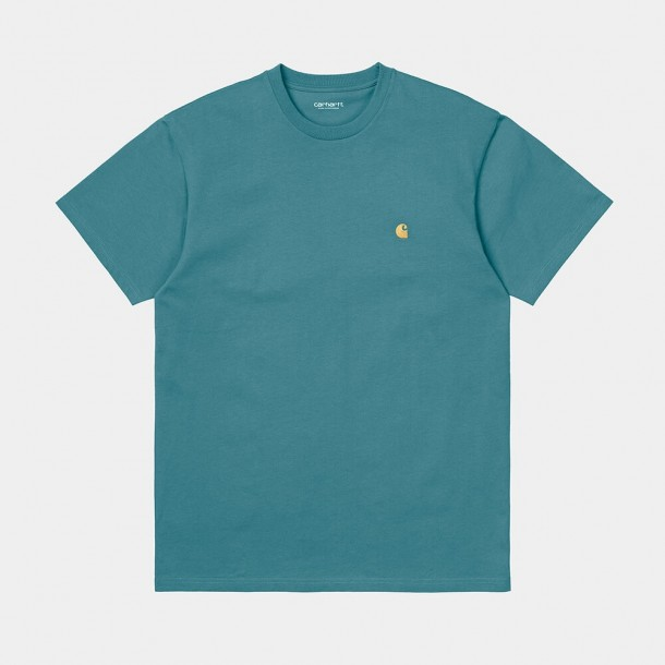 Carhartt WIP S/S Chase T-Shirt Hydro / Gold-31