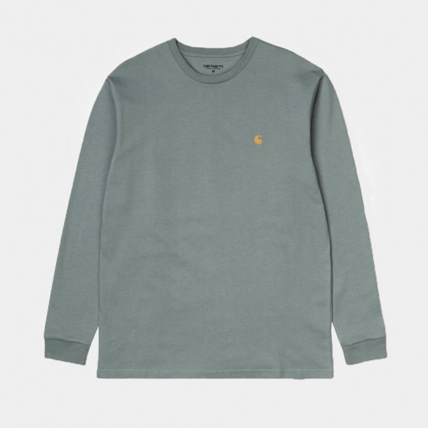 Carhartt WIP L/S Chase Shirt Cloudy / Gold-31