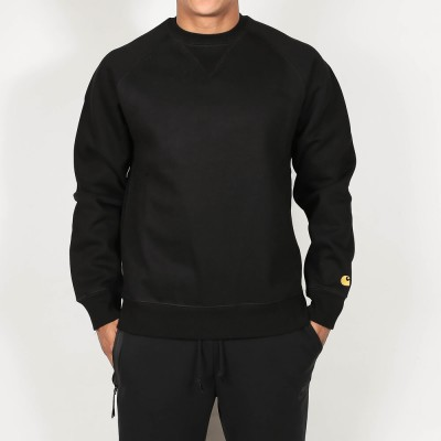 carhartt-wip-chase-sweat-black-gold