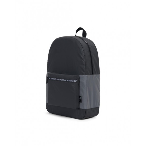 "Herschel Supply Co. Packable Daypack ""Day/Night"" Collection Black / Silver Reflective-01"