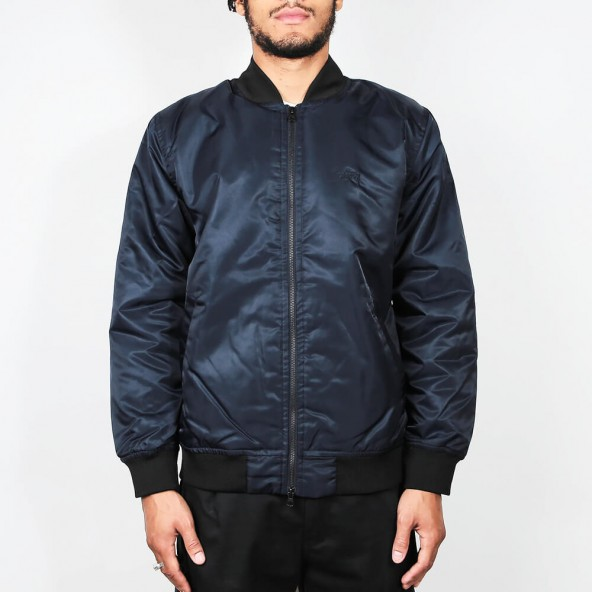 Stussy Flight Satin Bomber Jacket Navy-01