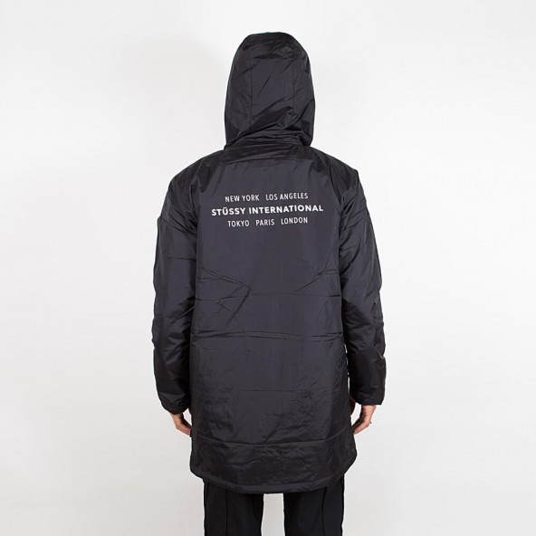 Stussy Insulated Long Hooded Coach Black-01