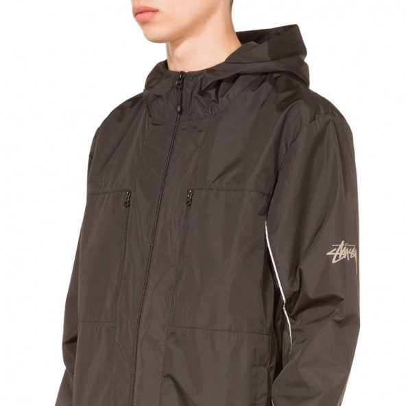Stussy 3M Nylon Paneled Jacket Black-01