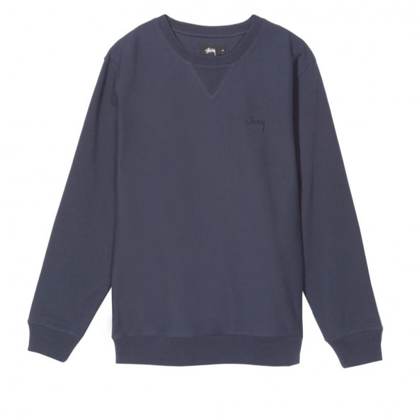 Stussy Stock LS Terry Crew Navy-01