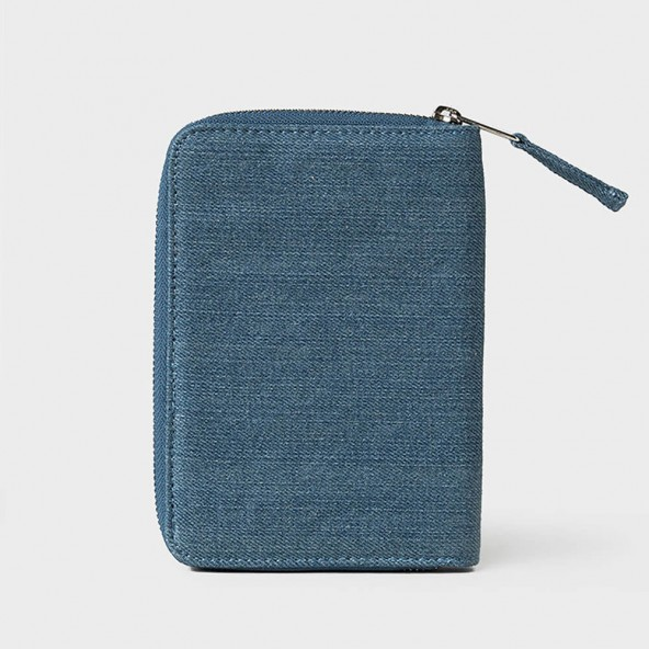 Stussy Denim Passport Wallet Indigo-01