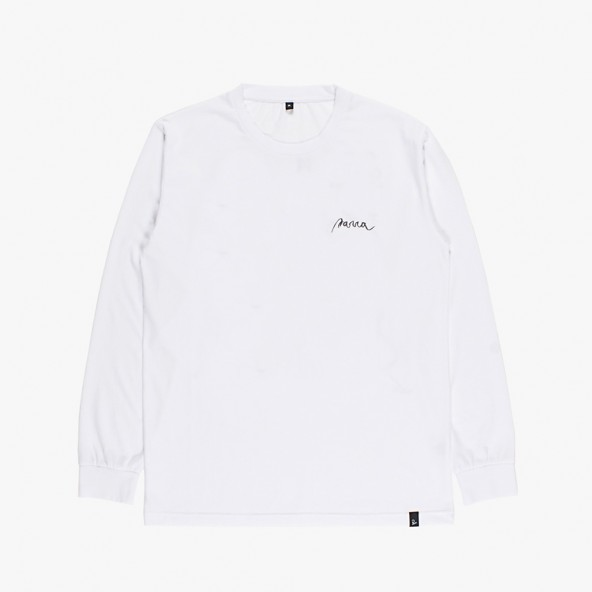 By Parra Long Sleeve T-Shirt Star Struck White-01