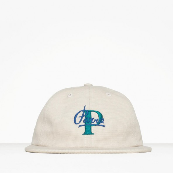 By Parra 6 Panel Hat Painterly Script Stone-01