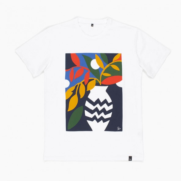 By Parra T-Shirt Still Life With Plant White-01
