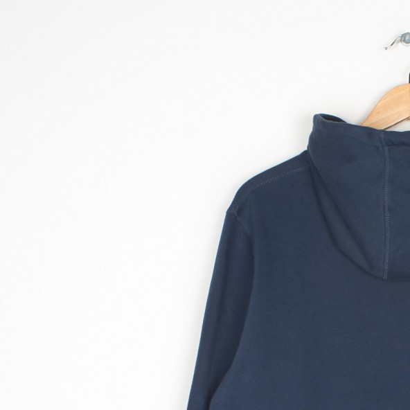 By Parra Hooded Sweater Garage Oil Navy Blue-01