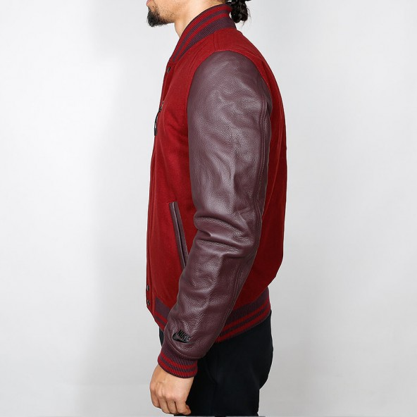 Nike Destroyer Jacket Medium Team Red Heather / Deep Burgundy / Black-01