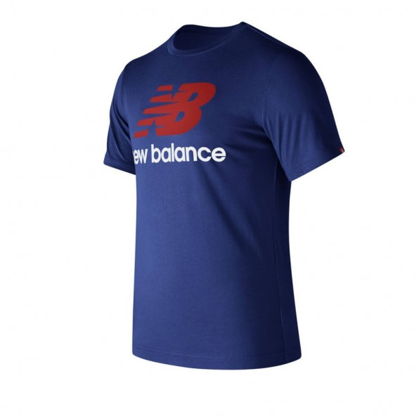 New Balance MT73587AT Essential Stacked Tee Atlantic Blue-01