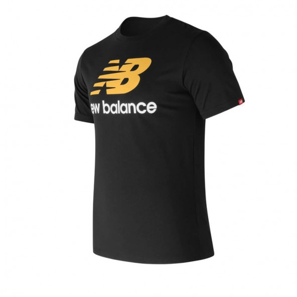 New Balance MT73587BK Essential Stacked Tee Black-01