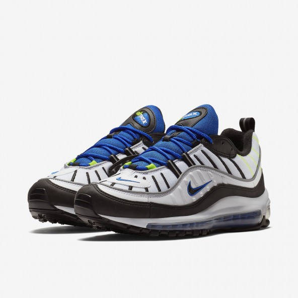 Nike Air Max 98 White / Black Racer-01